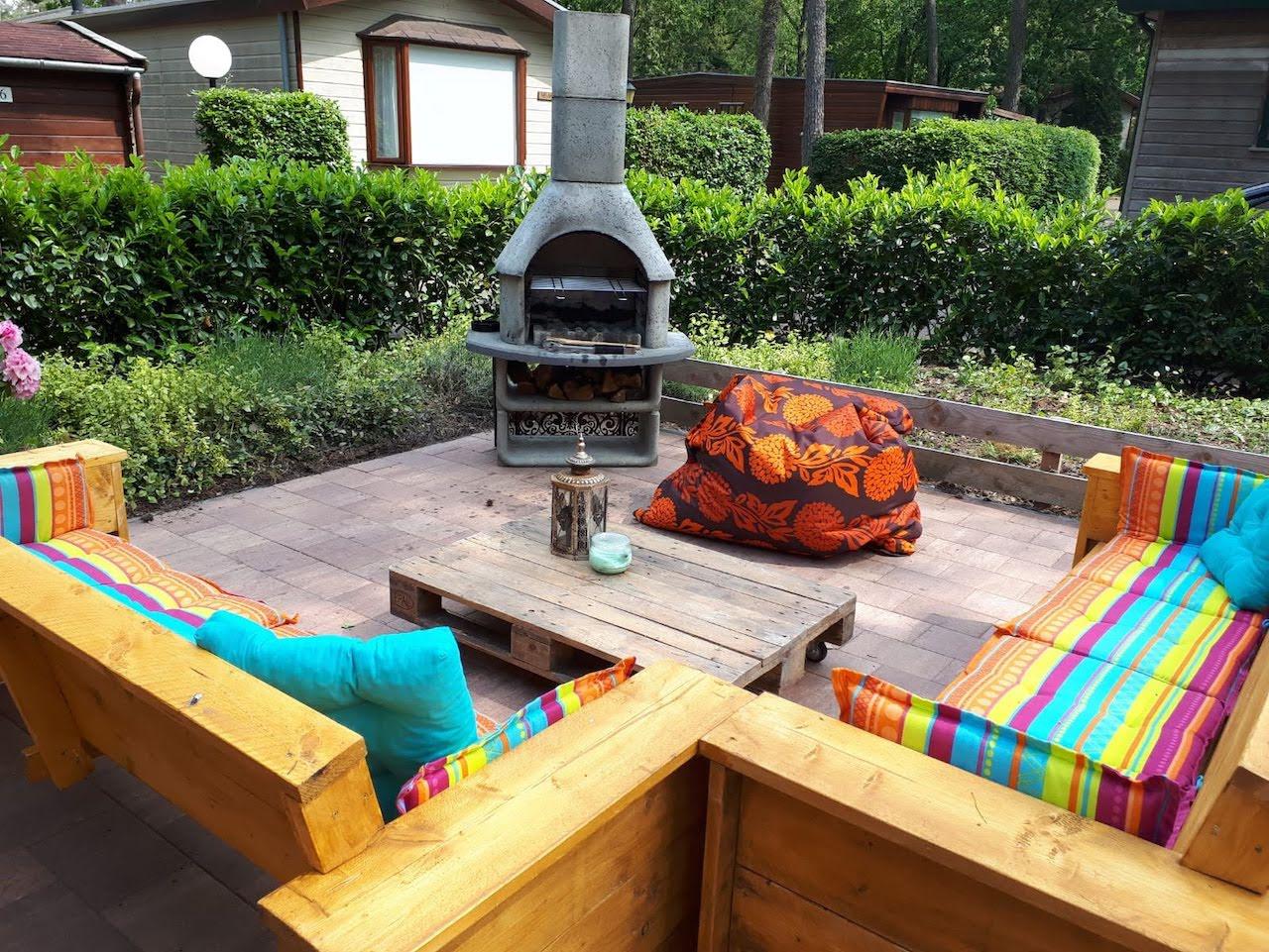 Terras met barbecue