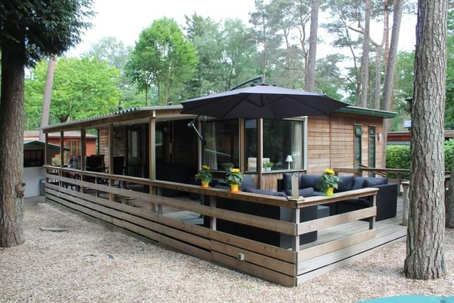 5 persoons vakantiehuis aan een vijver
